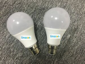 10 X LED Bulb GLS B22 Cap Cool White 7W B22 630 Lumen for Home, Office, Shop