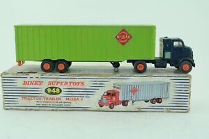 Dinky Supertoys No 948 McLean's Tractor Trailer - Meccano Ltd - England  repaint