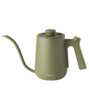 MINOS 0.6L Gooseneck Tea Kettle Pour Over Coffee 5 Colors for Choose