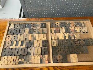 "Vintage letterpress wood type Large 2 1/2"" font for printing"