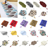 Multiple styles Tassel Table Runner Restaurant Desk Bed Flag Tablecloth 180x32cm