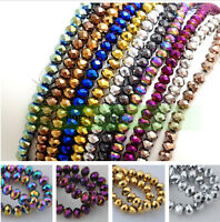 Rondelle Faceted Crystal Glass Loose Spacer Beads Wholesale 3/4/6/8/10/12mm New