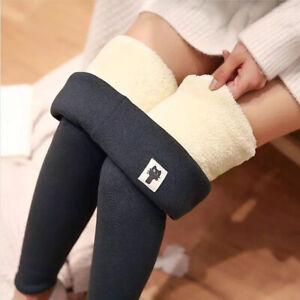 Women Leggings Skinny Winter Thicken Leggings Cashmere Lambskin Warm Pants