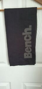 BENCH Ladies Black Grey Thin Scarf one size #H CLEARANCE