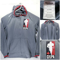 Reebok CFLPA Mens XL Full Zip Hoodie CFL Players Association Play Dry Sweater