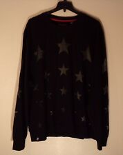 NWT MEN'S 5XL WINCHESTER LONG SLEEVE BLACK WITH GRAY FLAGS SWEATSHIRT $64 #1029
