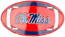 OLE MISS REBELS CAR TAG OVAL FOOTBALL LICENSE PLATE SIGN UNIVERSITY MISSISSIPPI