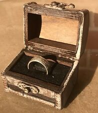 Coin Ring handcrafted from a Silver US Morgan dollar. Satin finish in wood box