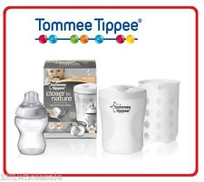 Tommee Tippee Closer to Nature Single Baby Bottle Compact Steriliser Free Bottle