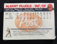 Albert Pujols 2001 Memphis Redbirds Team Set Sealed Pujols First Card!