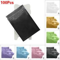 100 Flat Mylar Foil Bags Aluminium Sachet Pouch &Zip Lock Heat Seal Food Grade