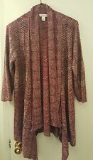 NWOT Christopher & Banks  3/4 Length Overlay Mauve Size PM