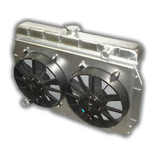 THE BEST 1973 - 1986 Jeep CJ Aluminum Radiator AMC V8 Engine Dual 3000 CFM FANS