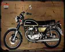 Honda Cb200 A4 Photo Print Motorbike Vintage Aged