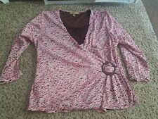 Notations womens top Large Pink And Brown