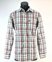 American Eagle Button Up Shirt Small Mens Blue White Red Checkered Vintage Fit