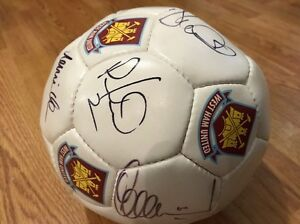West Ham United F.C. Football Ball with a Collection Genuine Players' Signatures