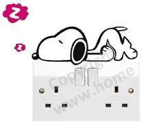 Lazy Sleepy Dog Snoopy Wall Door ipad Fridge Light Switch Vinyl Sticker Decal