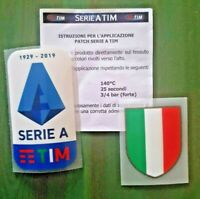 patch toppa SET logo JUVE SERIE A TIM 1929 2020 2019 + SCUDETTO PICCOLO 35x45mm