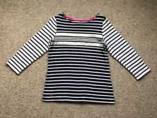 Ladies Joules Jumper Size 10 Sweater Top Blue & Grey Striped
