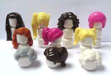 Lego 10 Female Girl Minifigure Hair Wig Blonde Brown Pink Ginger White Grandma