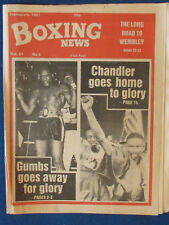 Boxing News Magazine - 6/2/81 - Roy Gumbs & Jeff Chandler Cover