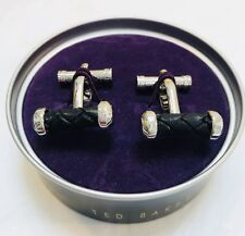 Ted Baker Men Cufflinks Cufflinks Silver With Leather