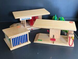 Holzspielzeug Beck - Waschstrasse - Garage - Tanstelle - Matchbox