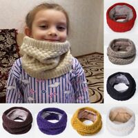 Stylish Men Women Wool Knit Winter Warm Knitted Neck Circle Cowl Snood Scarf BJ