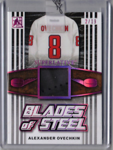ALEX OVECHKIN 17/18 Leaf ITG Superlative Blades of Steel Leather Skate Patch /19