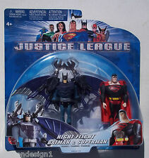 DC NIGHT FLIGHT BATMAN & SUPERMAN ACTION FIGURE SET. JUSTICE LEAGUE. NEW ON CARD