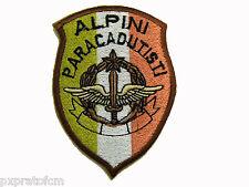 Patch Militare Alpini Paracadutisti Desert Scudetto per Mimetica Vegetata Eserci