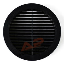 """Circle Air Vent Grille Cover BLACK 125mm (5"""") Ducting Ventilation Grill Cover"""