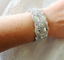Wedding Beaded Crystal Bridal Bracelet Cuff