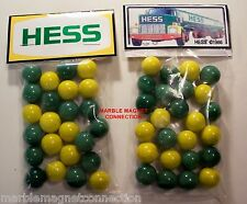 2 BAGS OF Hess/Gasoline BRAND GASOLINE ADVERTISING PROMO MARBLES