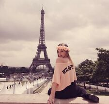 WILDFOX VALLEY GIRL CONCH BEACH PEACH OVERSIZED LOGO SWEAT TEE TOP M 12 8 40 £75