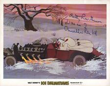 Betty lou Gerson 101 Dalmatians autographed 11x14 lobby card with COA by CHA