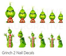 Grinch 2 Nail Decals