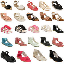 Leather Upper Shoes for Girls' Zip Sandals