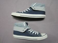 CONVERSE ALL STAR RARE TWO FOLD HIGH TOP NAVY BLUE & HEATHER GRAY SHOES SIZE 10
