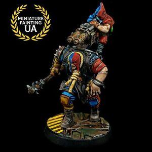 ⭐Forge World Necromunda Painted Stig Shambler House Cawdor Brute Hero Exclusive⭐
