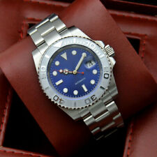 40mm blue dial automatic mechanical men's watch ceramic bezel 99