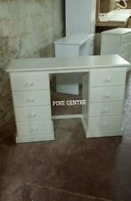 HANDMADE IVORY YORK DOUBLE DRESSING TABLE  (ASSEMBLED) NO FLAT-PACK!!!