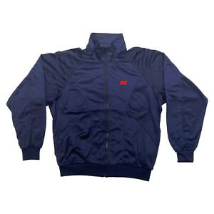 Nike Spell Out Logo Soft Shell Jacket | Vintage 80s Retro Sportswear Navy Large