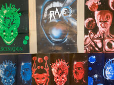 More details for rave world / complete set / rave flyers -original's collectable / early 90's