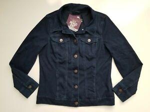 GLORIA VANDERBILT Women's Dark Jean Jacket Size Small S Comfort Lightweight NWT
