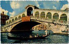 1962 Venezia - Ponte di Rialto, gondola, Bassano - FP COL VG ANIM