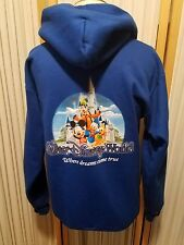 Disney Parks Where Dreams Come True Zip Up Hoodie Blue Sweatshirt Adult Small