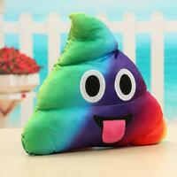 Cojin,  Emoji Poo Whatsapp Rainbow, 24x20cm, Cojines/Almohadas/Muñecos. #544