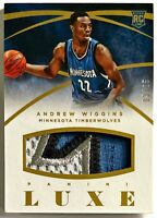 2014-15 Luxe Andrew Wiggins Jumbo Prime Patch RC #'d 3/25 Timberwolves Warriors